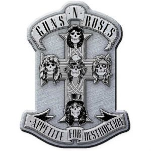 Guns N' Roses Appetite For Destruction metal pin badge  40mm x 30mm   (ro)